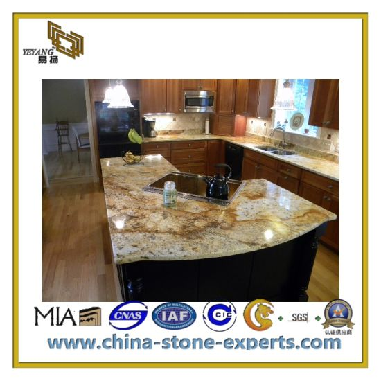 Hot Sell Black Galaxy Granite Kitchen Countertops (YQC)