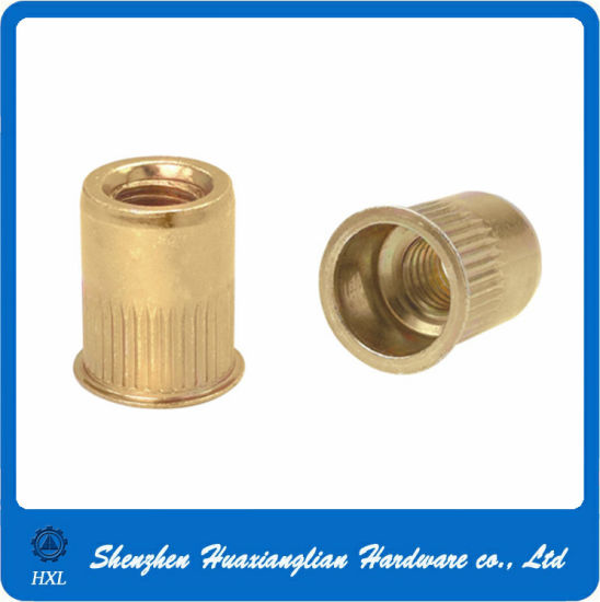 Customized Different Types Flat Head Thread Insert Steel Rivet Nuts pictures & photos