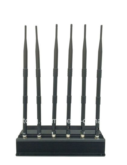 6 Antenna Desktop Cell Phone Jammer for Lojack pictures & photos