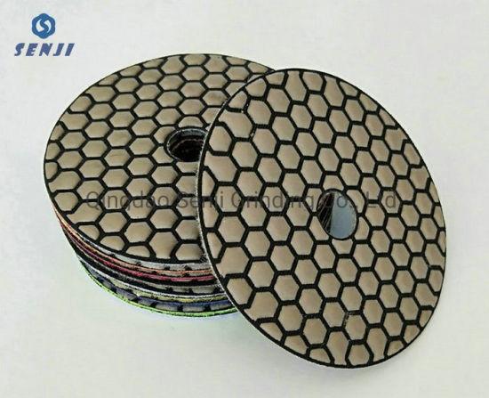 "3""/4""/5""/6""/7""Dry Diamond Polishing Pad for Granite Marble Concrete Engineer Stone"