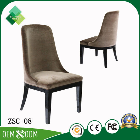 Italian Style Restaurant Furniture Fabric Chair for Luxury Villa (ZSC-08) pictures & photos