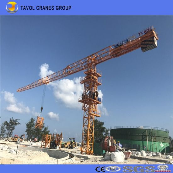 5610 Flat Top Tower Crane 6ton Crane Towers Construction Equipment pictures & photos