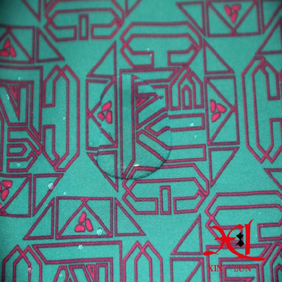 PU Coated Customized Print Waterproof Polyester Fabric for Jacket