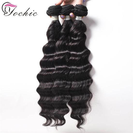 Deep Wave Brazilian Remy Hair Weave Bundles 100% Human Hair Bundle Extension 1/3/4 PCS Loose Curly Hair Products