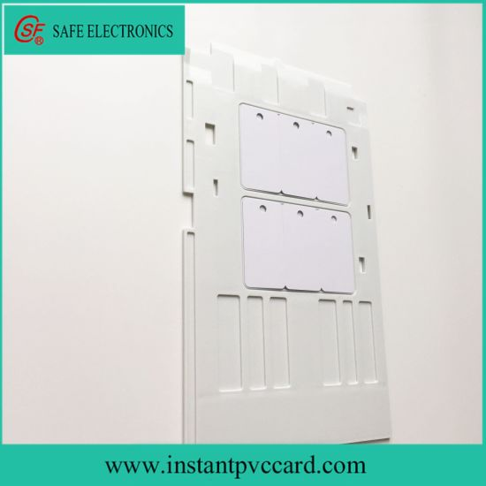 White Plastic PVC Card Tray Epson R260 Printer