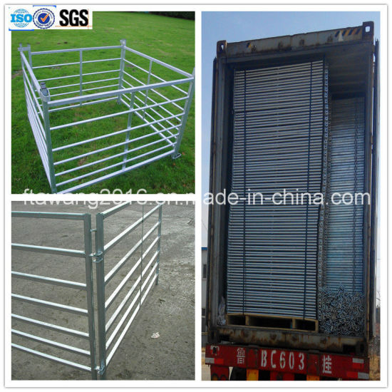 China 7 Rails Sheep Fence Panel/Hurdle/ Gate with Loops Temporary