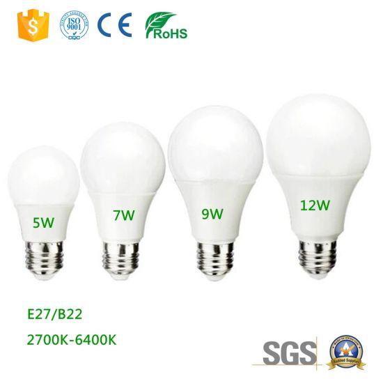Sample Free LED Light Bulb Energy Saving Bulb Ce RoHS Qualified 7W