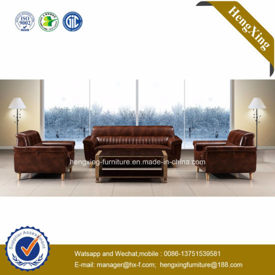 Modern Office Furniture Genuine Leather Couch Office Sofa (HX-CF009) pictures & photos