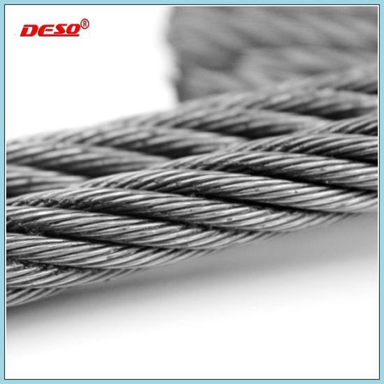 China High Tension 6*37 Galvanized Steel Wire Rope - China Stainless ...