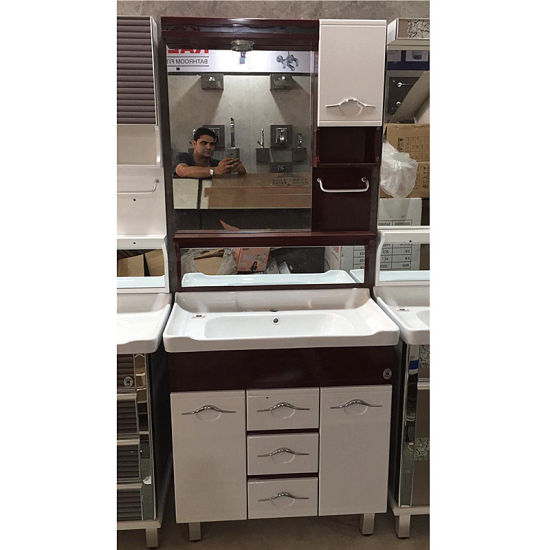 Floor Mount PVC Bathroom Cabinets with Doors and Drawers for Indian Market