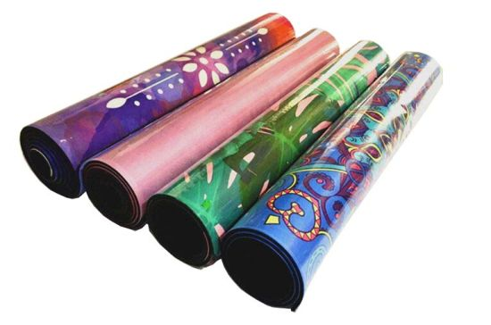 Multi-Colorful Image Printed Microfiber Yoga Mat Eco-Friendly Material Natural Rubber pictures & photos