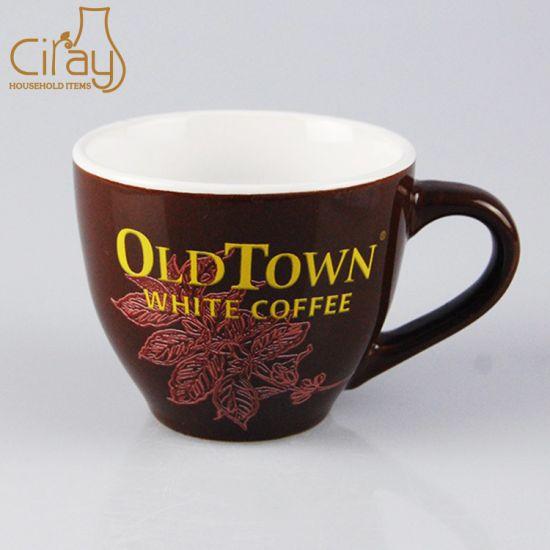 Top Quality 9oz AAA Ceramic Coffee Mug with Custom Logo