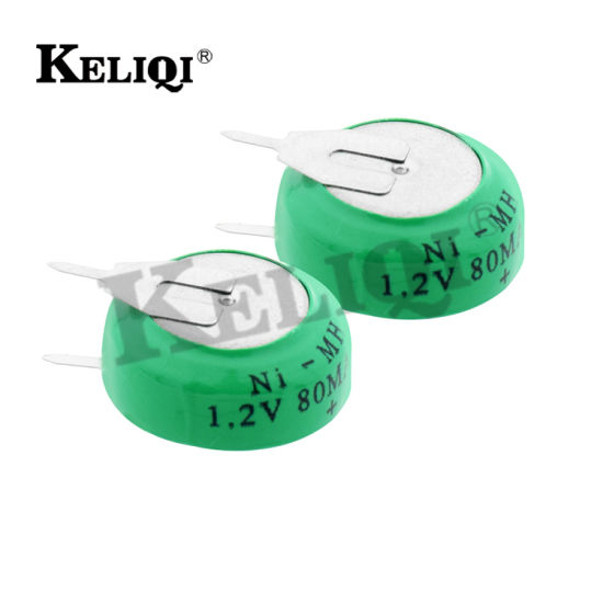 Factory 1.2V 80mAh NiMH Storage Rechargeable Button Cell Battery