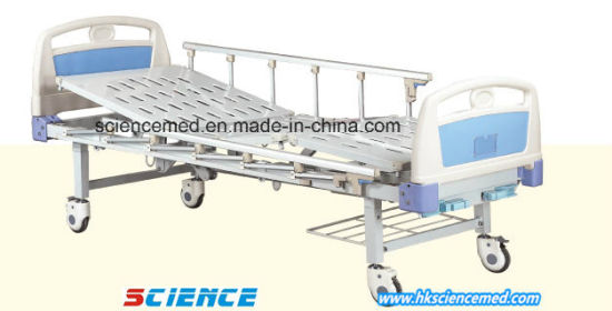 Two Cranks Manual Hospital Bed with ABS Head Foot Board