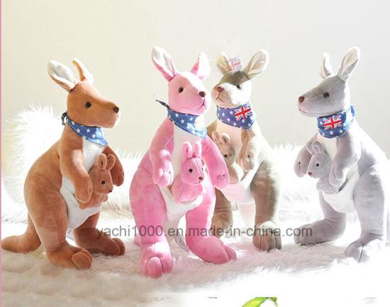 Soft Stuffed Plush Australia Kangaroo Toy with Baby