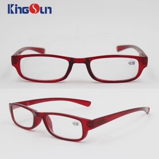 Injection Fashion Single Color Reading Glasses
