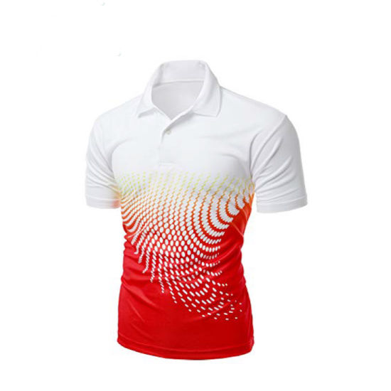 Dye Sublimation Print 100% Polyester New Design Golf Polo Shirts