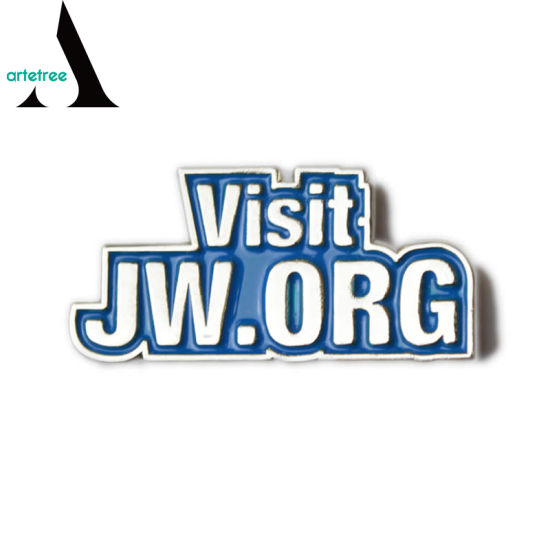 Promotion Custom Metal Visit Jw. Org Lapel Pin Badge pictures & photos