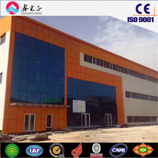 Steel Frame Factory Building to Be Workshop with Overhead Crane