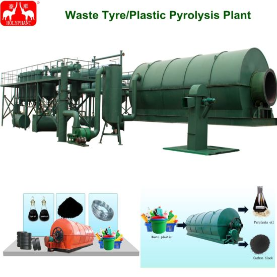 China Small Continuous Used Plastic Tire Pyrolysis Plant for