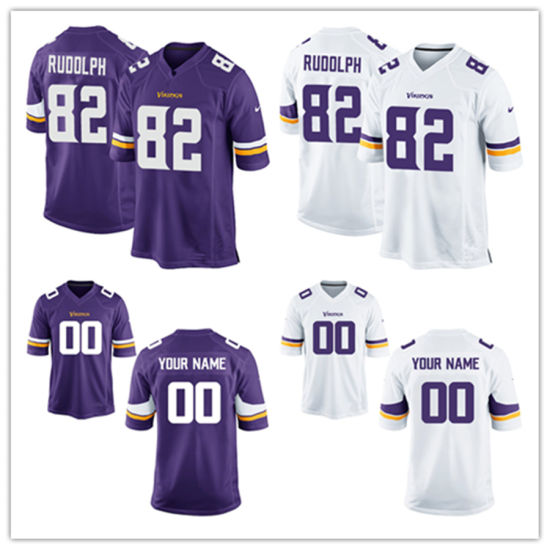free shipping e7ab7 a2a91 Men Women Youth Vikings Jerseys 82 Kyle Rudolph Football Jerseys
