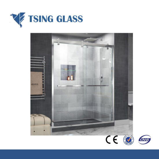 China Wholesale Custom Size Clear Tempered Glass for Bathroom Door pictures & photos