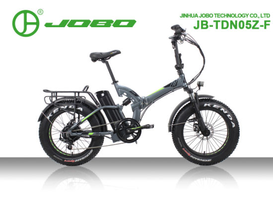 20 Inch Hot Sale Folding Bike Electric Fat Tire Bike 8 Fun Motor with Dual Suspension Frame Jb-Tdn05z-F pictures & photos