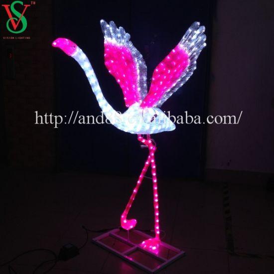 Flying Flamingo LED Sculpture Animal Motif Lights