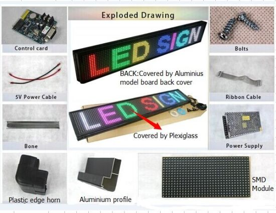 Programmable RGB LED Scrolling Sign Board (960*320mm) pictures & photos