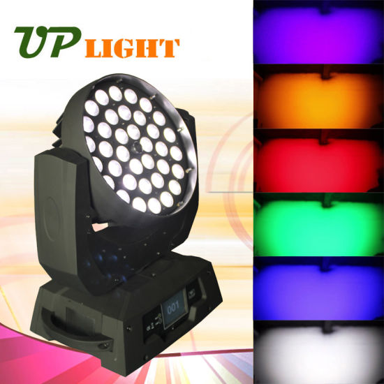 36*18W RGBWA UV Zoom 6in1 LED Moving Head Light pictures & photos
