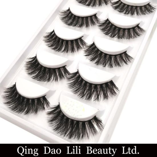 626ed5af418 Thick False Eye Lash 100% Real 3D Mink Eyelashes 5 Pairs Eyelash Makeup Kit  Professional