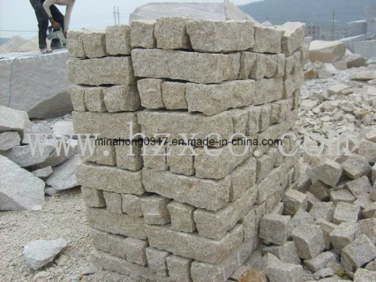 Rusty Yellow G682 Beige Granite Paving Cube Stone