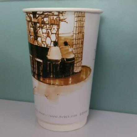 Disposable Food-Grade Double Wall Coffee Cups with Lids pictures & photos
