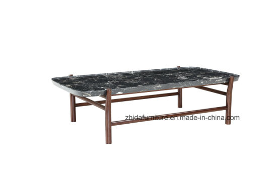 China Modern Rectangle Black Marble Top Coffee Table China Living
