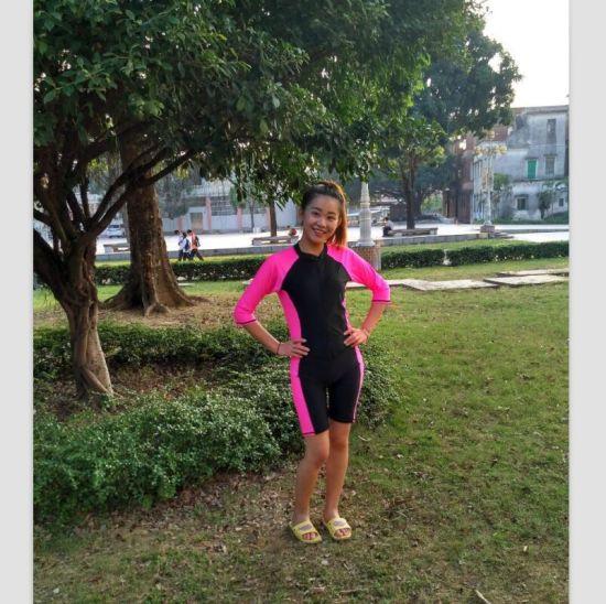ce9d0ae3ab59c China Women′s Lycra Short Sleeve One-Piece Swimwear & Beachwear ...