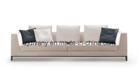 China Italian Style Wooden Leather Sofa 3 Seats Sofa Fabric (D-68-D ...