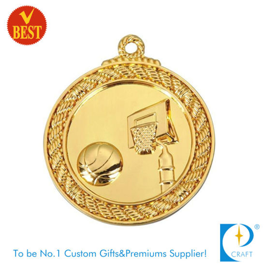 Custom Gold 3D Sport Award Souvenir Basketball Medal