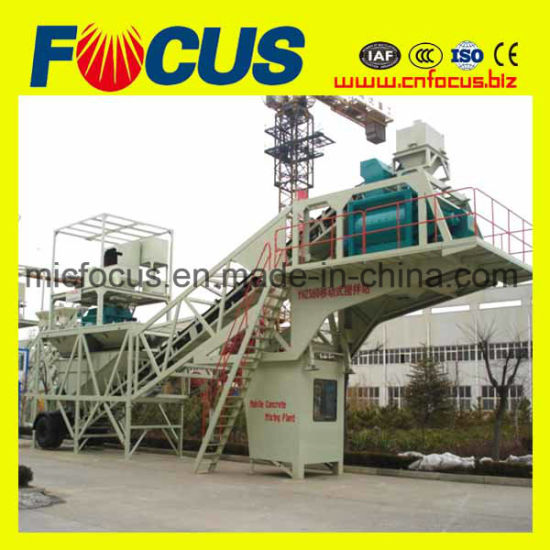 Low Cost Concrete Batching Plant, Yhzs50/60 Mobile Concrete Mixing Plant pictures & photos
