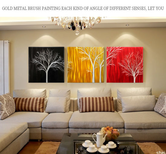Tree Art Landscape Picture Modern, Contemporary Metal Wall Art For Living Room