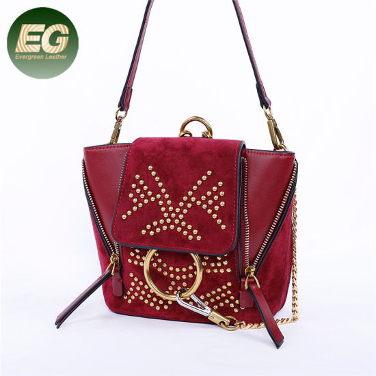 1bb4bf8a160a China Double Use Functional Small Suede Handbag Women Bag Wholesale ...