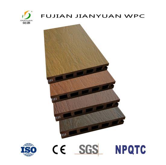 ASA-PVC Co-Extrusion Hollow Outdoor Wood Plastic Composite WPC Deck Floor