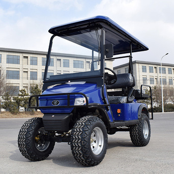 Blue 4 Seater High Quality off Road Battery Powered Utility Mini Electric Airport Golf Buggy Cart with Ce Certificate