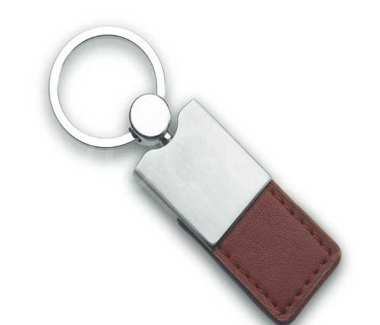 Promotional Gift Genuine Leather Car Keychain (YB-LK-02)