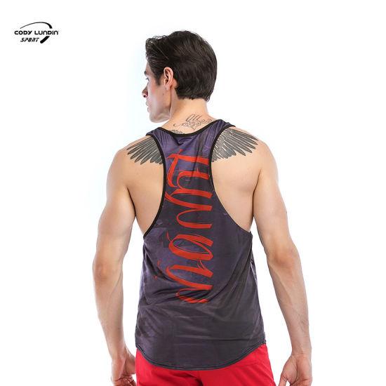 Cody Lundin Hotsale Gym Fitness Wear Brand New Men's Casual Striped Sleeveless O Neck Vest Summer Beach Sportswear Holiday Tank Tops