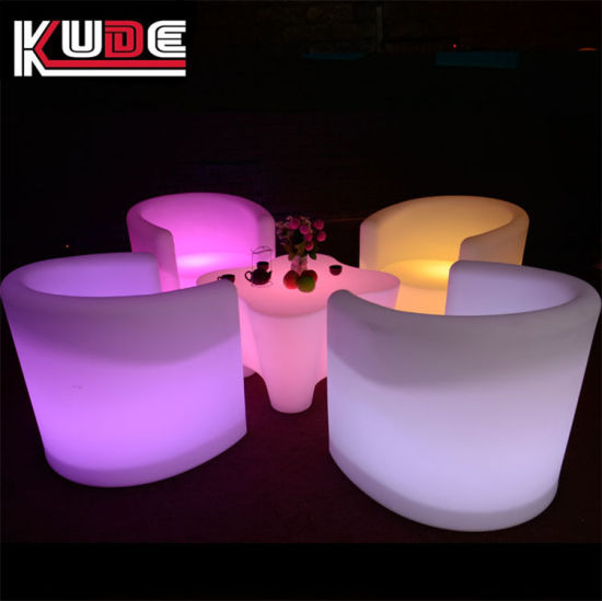 Glowing Furniture Set LED Table and Sofa