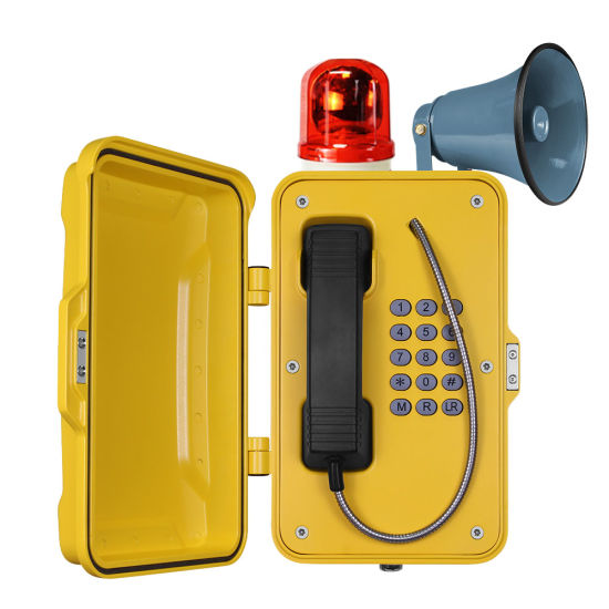 VoIP Tunnel Waterproof Telephone with External Beacon & Hooter Optional
