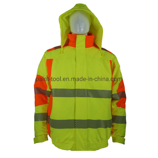 Reflective Windproof Breathable Workwear Safety Jacket for Construction and Engineer