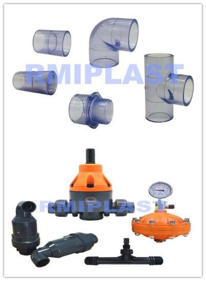 China Plastic PVC PP PVDF Hand Gear Butterfly Valve /Pneumatic