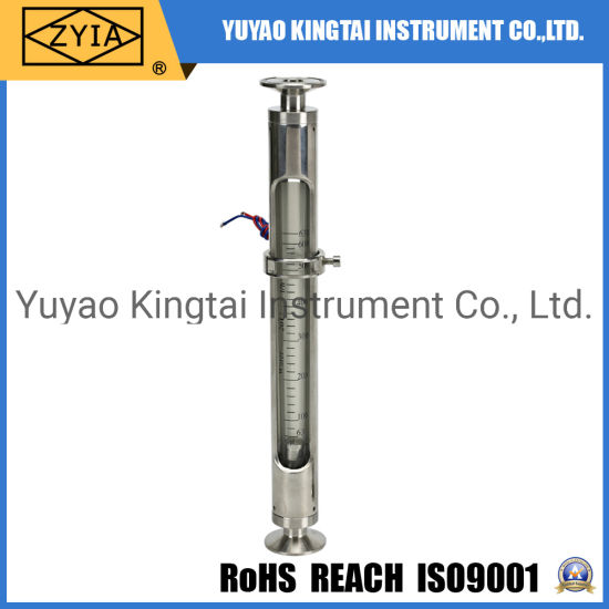 Stainless Steel Glass Flowmeter with Alarm Limit Switch