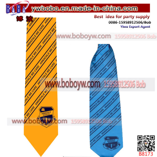 Custom Tie with Logo Bowtie with Logo Neck Tie Uniform School University Ties School Tie (B8173) pictures & photos